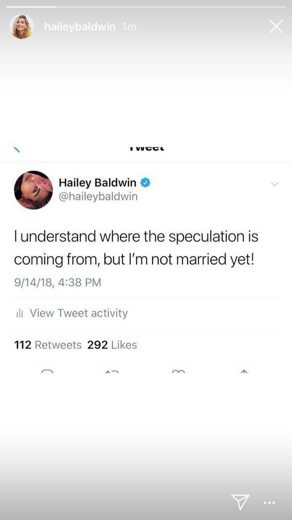 Hailey Baldwin dementiert die Gerüchte über eine Hochzeit mit Justin Bieber. (Bild: Instagram/haileybaldwin)