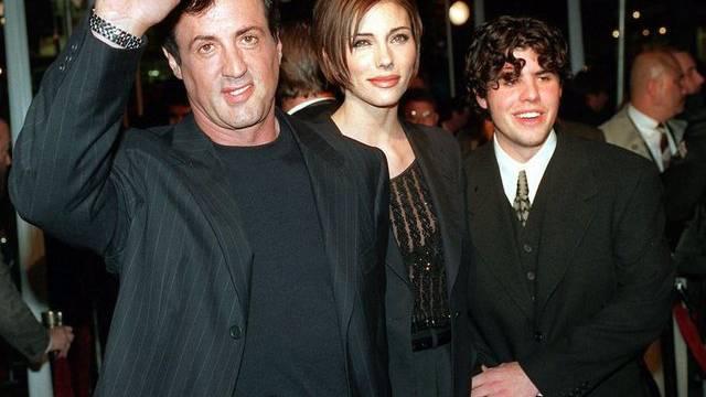 Sylvester und Sage Stallone im Jahr 1996
