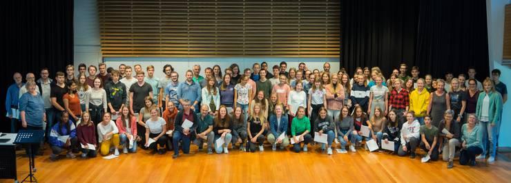 Der Chor der Kantonsschule Solothurn bereitete sich seit letzten Sommer für den Auftritt vor.