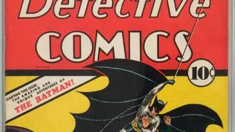 In diesem Heft von 1939 ist Comic-Held Batman zum ersten Mal aufgetaucht. Zu seinem 80 Geburtstag gibt es dieses Jahr zahlreiche Jubiläumsveranstaltungen (Archivbild).