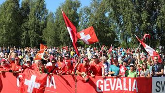 Die Schweizer Fans in Strömstad durften die achte OL-WM-Medaille bejubeln