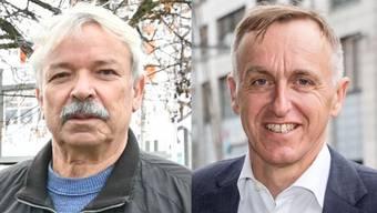 Rolf Sommer (links) und Thomas Rauch kandidieren ebenfalls für den Stadtrat.