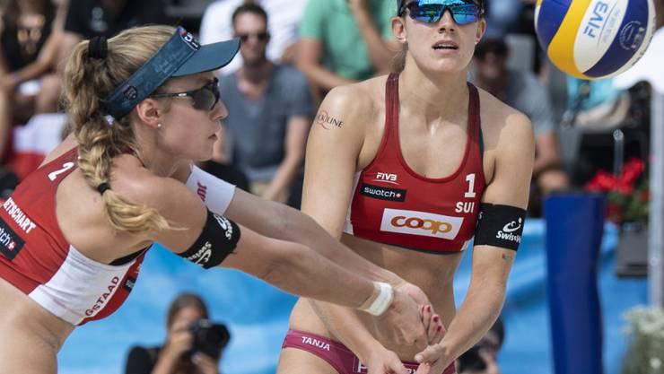 Tanja Hüberli (rechts) und Nina Betschart sind im Frauentableau an der EM in Lettland topgesetzt