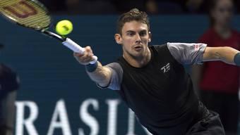 Erfolgreich gestreckt: Henri Laaksonen gewann in Houston erstmals in diesem Jahr ein Spiel auf der ATP Tour. (Archivbild)