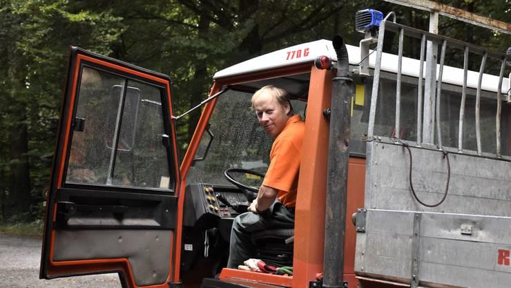 Für seine Arbeit in der Gemeinde ist Konrad Stocker jeden Tag draussen in Oberrüti unterwegs.