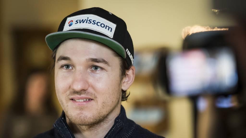 Skifahrer Cédric Noger trägt den FCSG immer bei sich