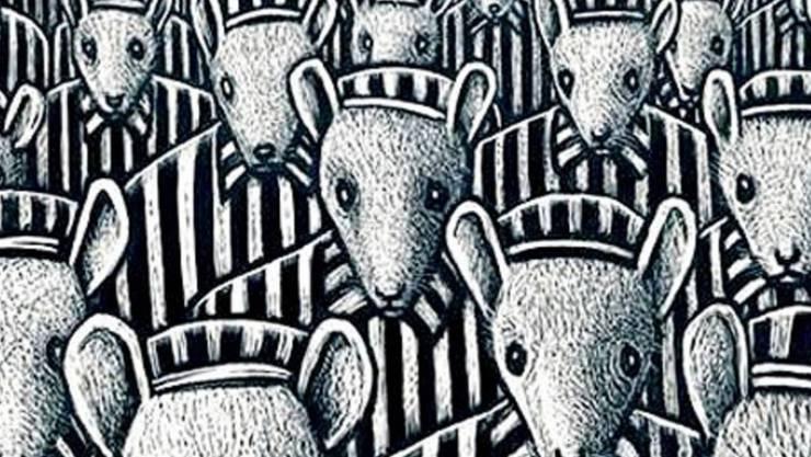 """Zeichnung aus """"Maus"""", dem Cartoon, in dem Art Spiegelman die Geschichte seiner Eltern im Holocaust nacherzählte. Das Buch war der erste Comic, der mit dem Pulitzer-Preis ausgezeichnet wurde. (Pressebild)"""
