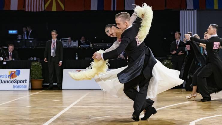 Die Schweizer Meister Philipp Hofstetter und Anissia Enes tanzten sich bisher zusammen durch drei Turniere, hier an den Austrian Open Championships in Wien.