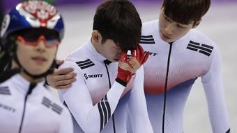 Ein Sturz machte die Gold-Hoffnungen der Südkoreaner in der Staffel zu Nichte