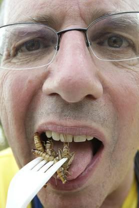 Louis Champod machte schon am Paléo-Festival Werbung für seine kulinarische Überzeugung.