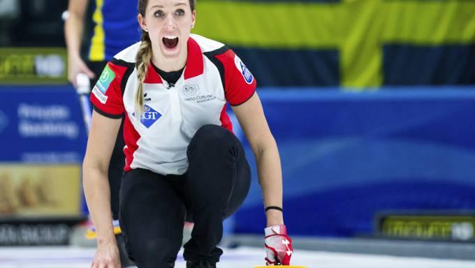 Melanie Barbezat auf der ersten Position im Element