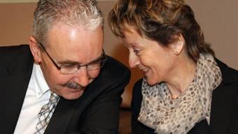 Die beiden Zugpferde in der BDP. Präsiden Hans Grunder und Bundesrätin Evelyn Widmer-Schlumpf.