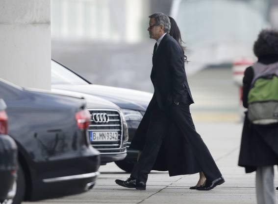 Clooney und Amal auf dem Weg ins Kanzleramt
