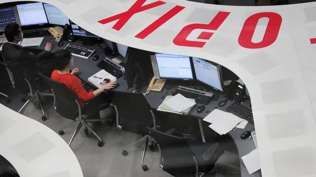 Börsenangestellte in Tokio (Symbolbild)