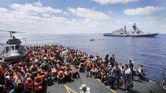 Die italienische Marine rettete im Rahmen von «Mare Nostrum» unzählige afrikanische Flüchtlinge. (Archiv)