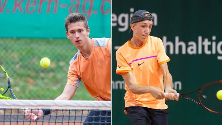 Dennis Plüss (links) siegte in der 1. Liga für Wohlen Niedermatten. Noah Bircher, 1. Liga Wohlen Niedermatten, punktete.