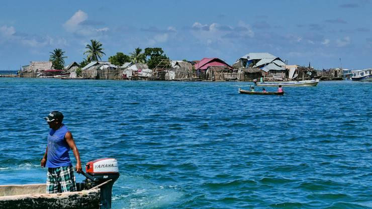 Die Insel Gardi Sugdub vor Panama mit rund 1500 Bewohnern dürfte in absehbarer Zeit vom Meer verschluckt werden.