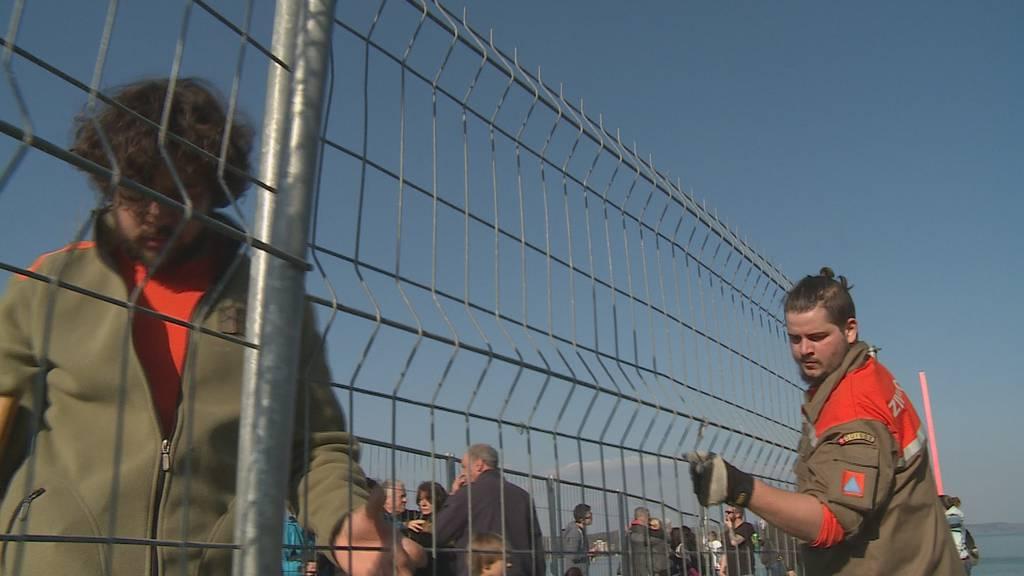 Kreuzlingen: Neuer Zaun sichert Grenze doppelt