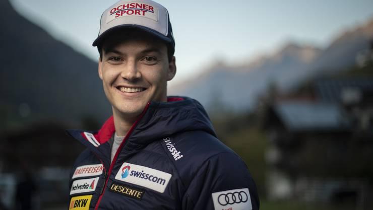 Loïc Meillard wird zugetraut, im Riesenslalom zum Siegfahrer zu reifen.