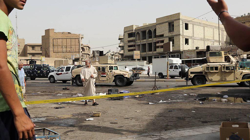 Schiitenviertel getroffen: Aufräumen nach Selbstmordanschlägen in Iraks Hauptstadt Bagdad (Archivbild)