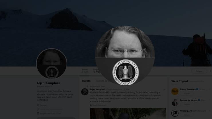 Der Twitter-Account von Arjen Kamphuis.