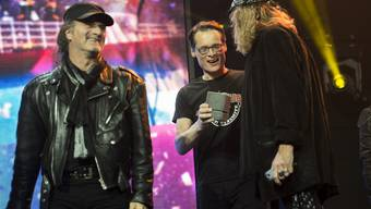Die Band Krokus an den Swiss Music Awards 2015.