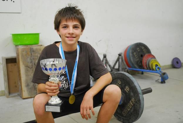 Andreas Schenk, mit 13 schon zweifacher Schweizermeister