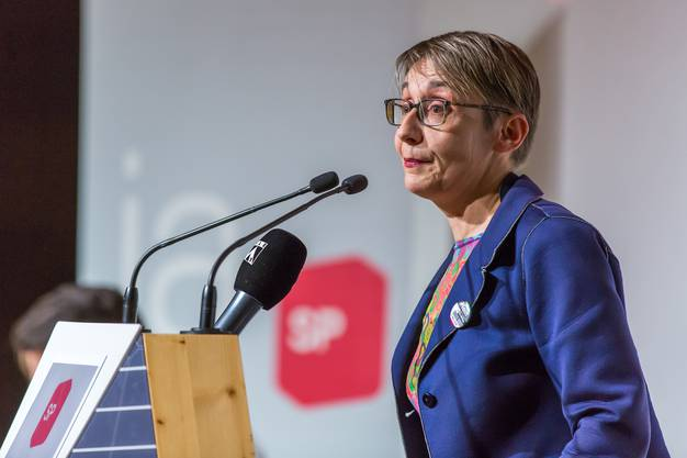 Elisabeth Burgener am SP Parteitag in Spreitenbach Impressionen SP Parteitag in Spreitenbach