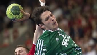Nicolas Raemy stach beim Auswärtssieg von Wacker Thun in Gümligen gegen den BSV Bern mit neun Toren heraus