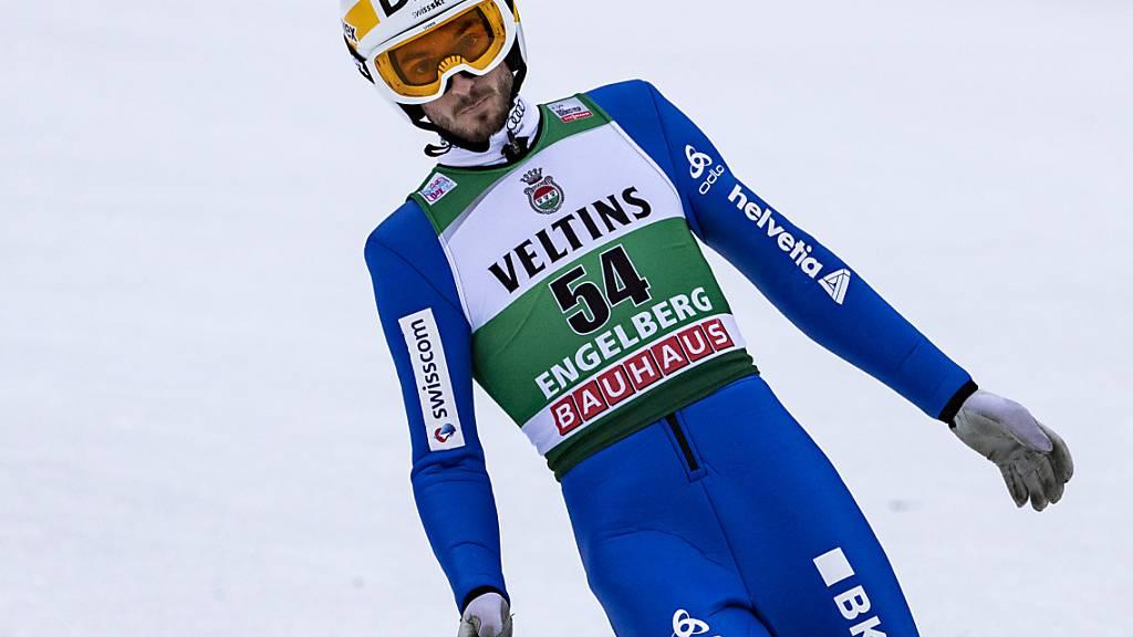 Nicht ganz zufrieden: Bei Halbzeit belegt Killian Peier beim Heim-Weltcup in Engelberg den 13. Zwischenrang