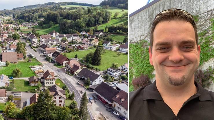 Patrick Schmid, Teufenthaler Gemeinderatskandidat: «Die Familie wie auch die Arbeitskollegen stehen hinter mir.»