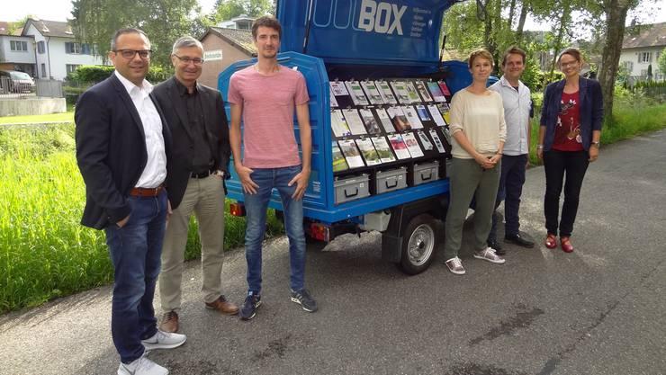 VJF-Präsident Alex Meyer, Markus Haller und Martin Kuhn sind neu im Vorstand; Katharina Stäger, Lukas Vogt und Karin Stoll (v.l.) gehören zur Geschäftsleitung.chr