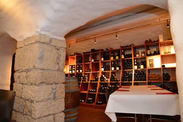 """In der Weinhandlung """"La passion du vin"""" an der Laurenzentorgasse spielt die Folge """"Stierebluet""""."""