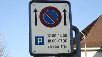 Solche Parkier-Zeitfenster gibts künftig an der Wallstrasse keine mehr.