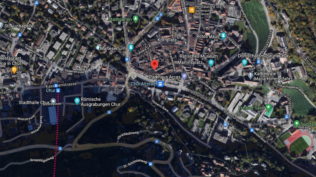 Der Unfall ereignete sich in der Oberen Gasse in Chur.