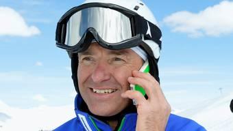 Der neue Chef Alpin vom Schweizer Skiverband, Rudi Huber (links), und Walter Hlebayna, der neue Chef-Trainer des Schweizer Ski-Männerteams, gestern an den Ski-Alpin-Schweizer-Meisterschaften in Davos. Urs FlÜeler/KEYSTONE