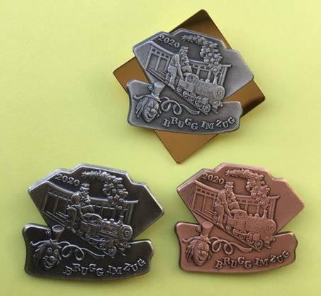 Die Brugger Fasnachtsplaketten sind in Gold, Silber und Kupfer erhältlich.