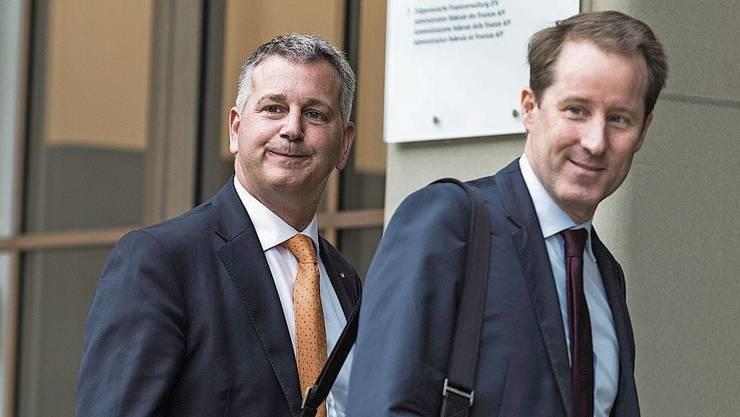 Kritisiert: SVP-Präsident Marco Chiesa und Fraktionschef Thomas Aeschi.