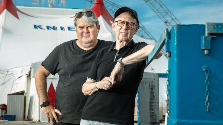 Die Komiker der Nation im Nationalzirkus: Mike Müller und Viktor Giacobbo.