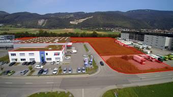 Die Dreier AG hatte das L-förmige Stück Land gekauft.