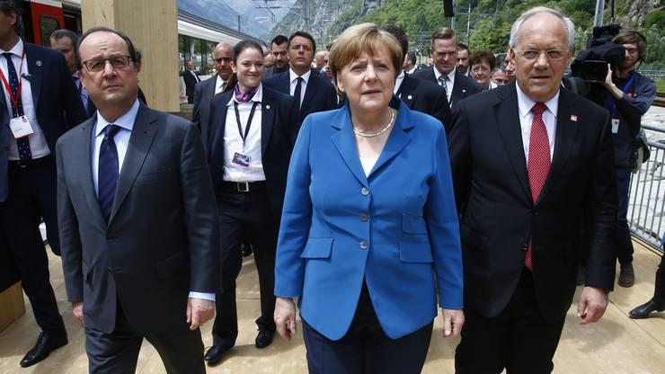 Europäische Gäste im Tessin.