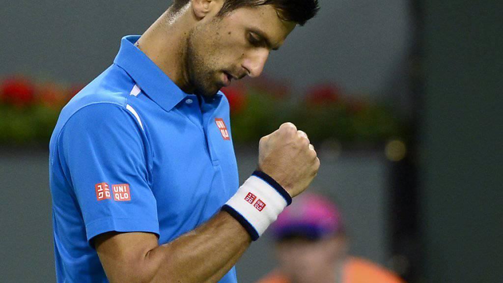 Titelverteidiger Novak Djokovic wird in der 3. Runde während knapp 100 Minuten vom Deutschen Philipp Kohlschreiber gefordert, kann sich am Ende aber über einen Zweisatzsieg freuen