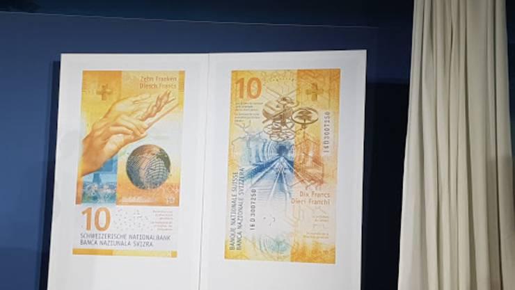 Bei einer Medienkonferenz am 11. Oktober hat die Schweizerische Nationalbank (SNB) die neue 10er-Note präsentiert.