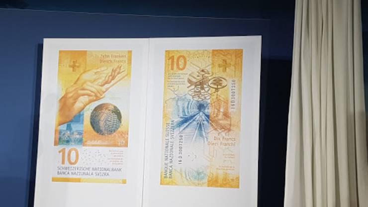 Bei einer Medienkonferenz hat die Schweizerische Nationalbank (SNB) die neue 10er-Note präsentiert.