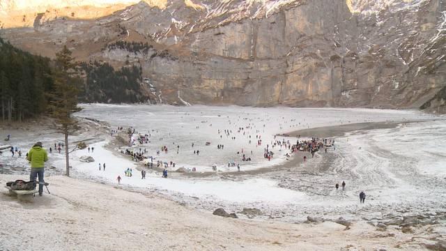 4. Jahr in Folge: Eis frei auf Oeschinensee