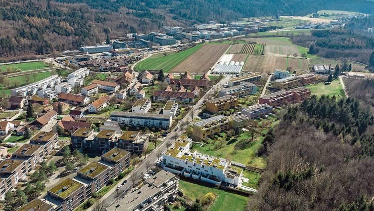 Auf dem Galgenbuck (obere Bildhälfte) soll ein neues Stadtquartier entstehen.