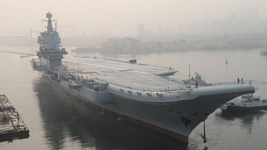 China testet ersten Flugzeugträger aus eigener Produktion auf See