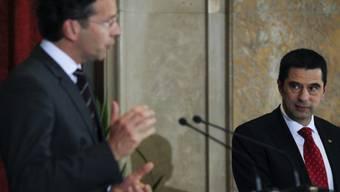 Eurogruppen-Chef Dijsselbloem bei Portugals Finanzminister Gaspar