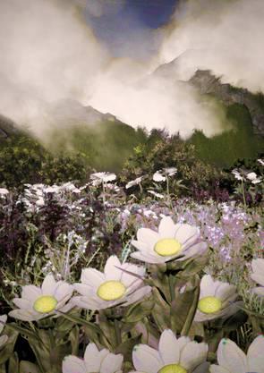 Digital auferstandene Blütenpracht.