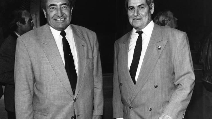 Der Neuenburger Ely Tacchella (rechts) - hier zusammen mit dem 2002 verstorbenen Geni Meier - starb im Alter von 81 Jahren